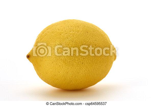 Fresh lemon isolated on white background - csp64595537