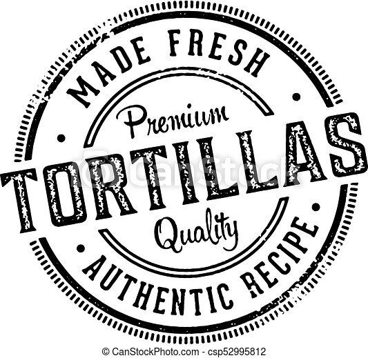 Fresh Made Tortillas Stamp - csp52995812