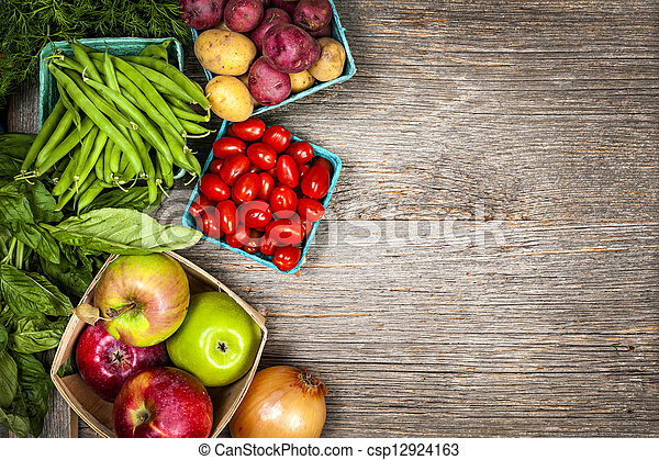 Fresh market fruits and vegetables - csp12924163