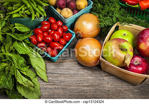 Fresh market fruits and vegetables - csp13124324