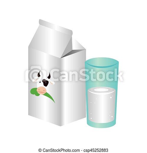 fresh milk box icon - csp45252883