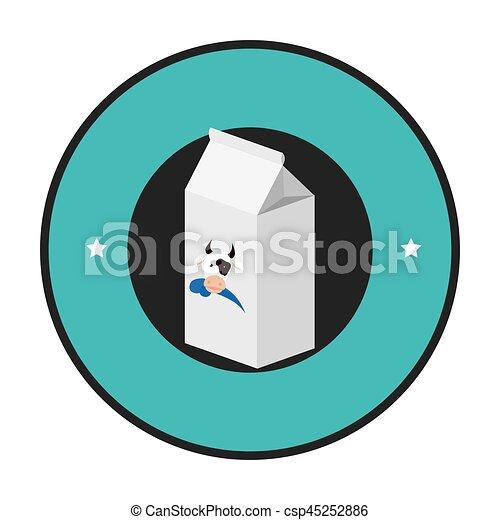 fresh milk box icon - csp45252886