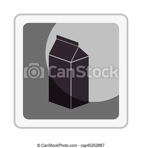 fresh milk box icon - csp45252887