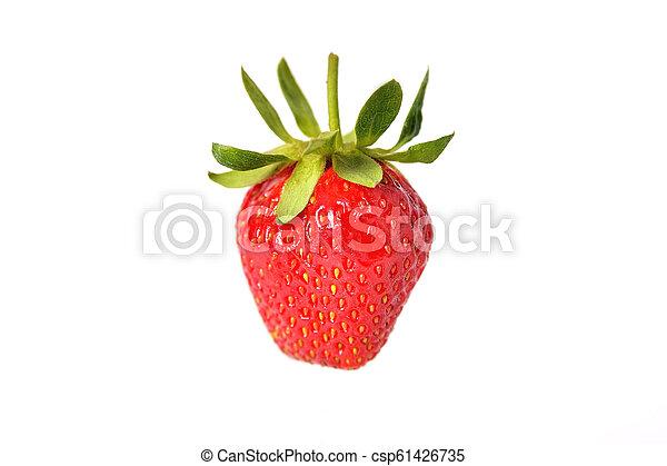 Fresh natural strawberry on white background, isolate - csp61426735