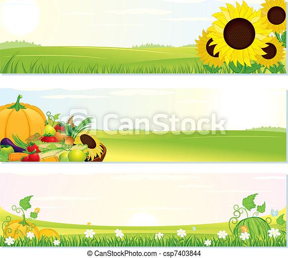Fresh Nature Banners - csp7403844