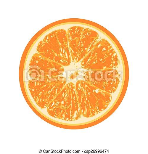 Fresh orange isolated on white background - csp26996474