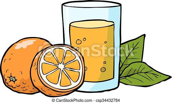 cartoon doodle fresh orange juice vector illustration vector rh canstockphoto com drinking orange juice clipart orange juice clipart free