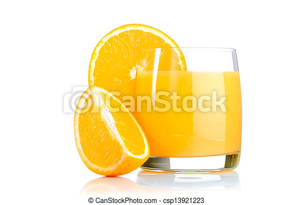 fresh orange juice in glass - csp13921223