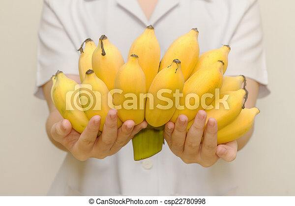 Fresh organic banana for healthy life - csp22780998