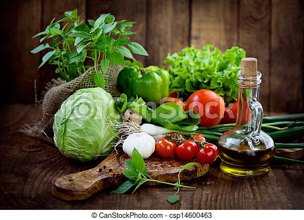 Fresh organic vegetables - csp14600463