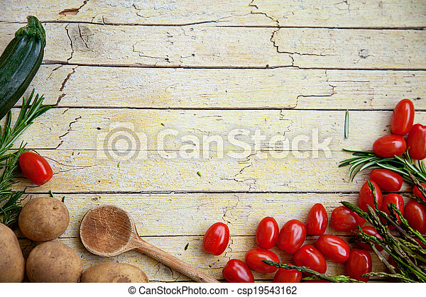Fresh organic vegetables - csp19543162