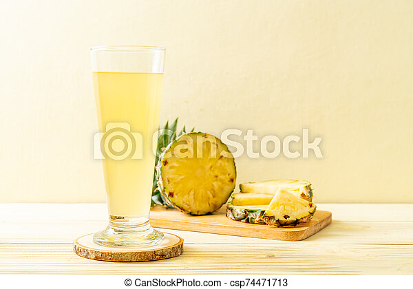 fresh pineapple juice - csp74471713