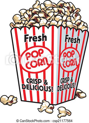 Fresh Popcorn - csp21177564