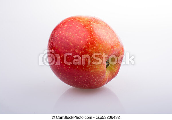 Fresh red apple on white background - csp53206432