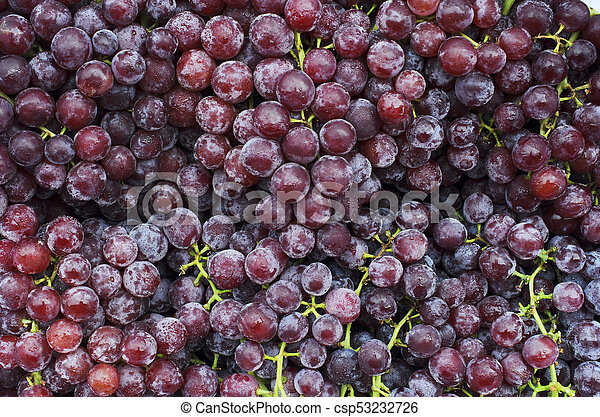 Fresh Red grape fruits backgrounds above - csp53232726