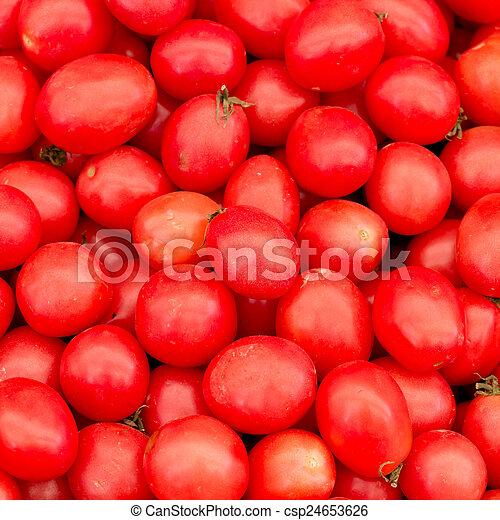 Fresh red tomatoes - csp24653626