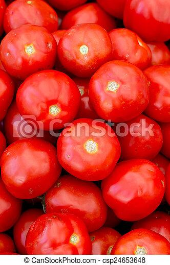 Fresh red tomatoes - csp24653648