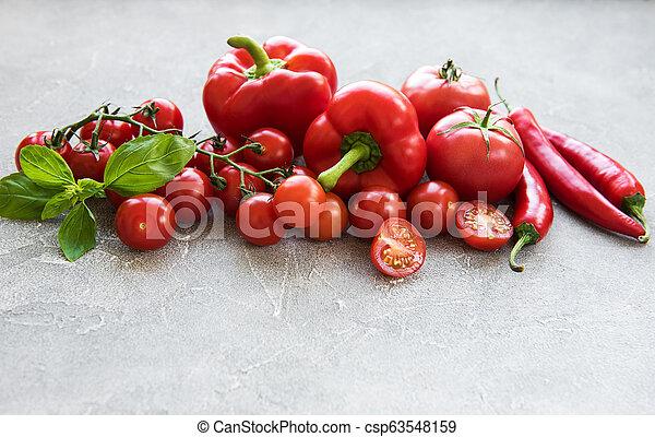 Fresh red vegetables - csp63548159