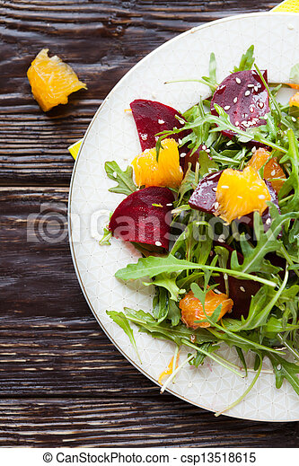 fresh salad with beets and oranges - csp13518615