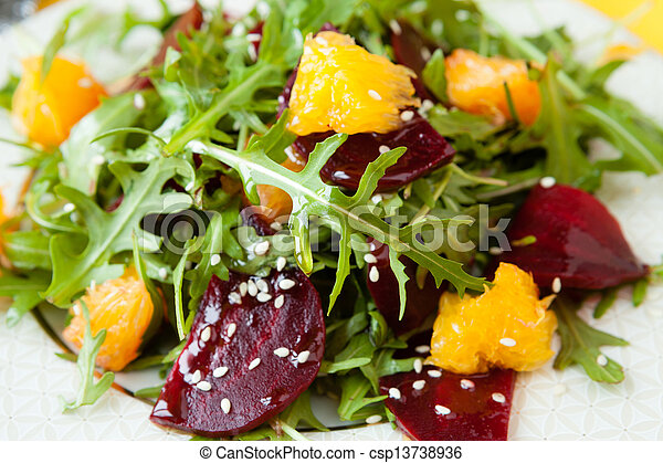 fresh salad with beets and oranges - csp13738936