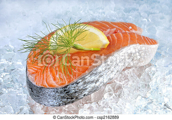 Fresh salmon steak - csp2162889