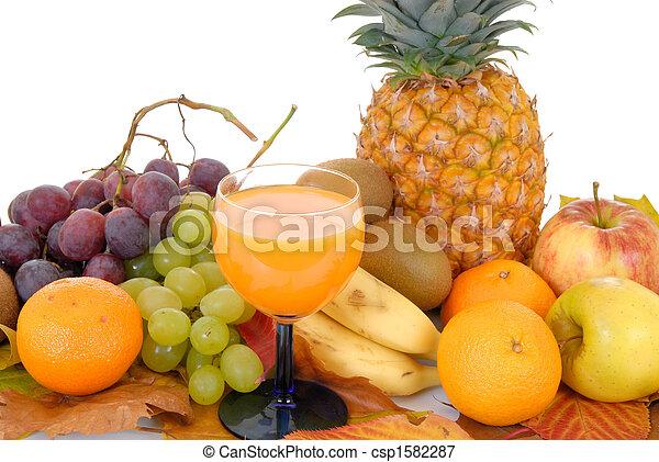 Fresh seasonal fruit - csp1582287