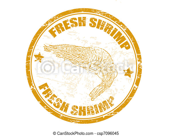fresh shrimp stamp - csp7096045
