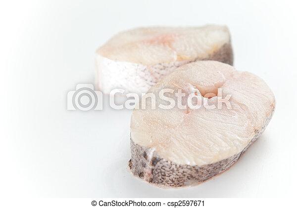 Fresh slice of hake - csp2597671