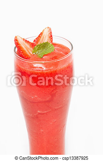 Fresh Strawberry smoothie , juice for healthy - csp13387925
