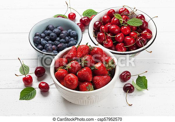 Fresh summer berries - csp57952570