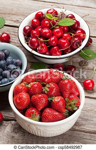 Fresh summer berries - csp58492987