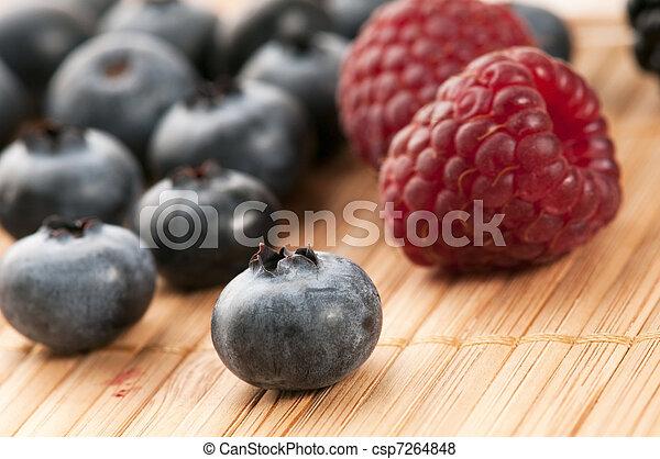 fresh summer berries - csp7264848
