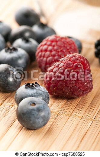 fresh summer berries - csp7680525