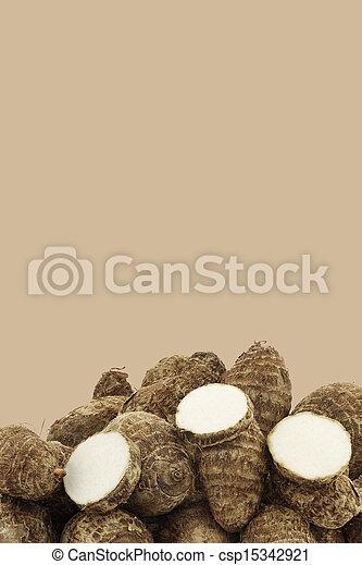 fresh taro roots(colocasia) - csp15342921