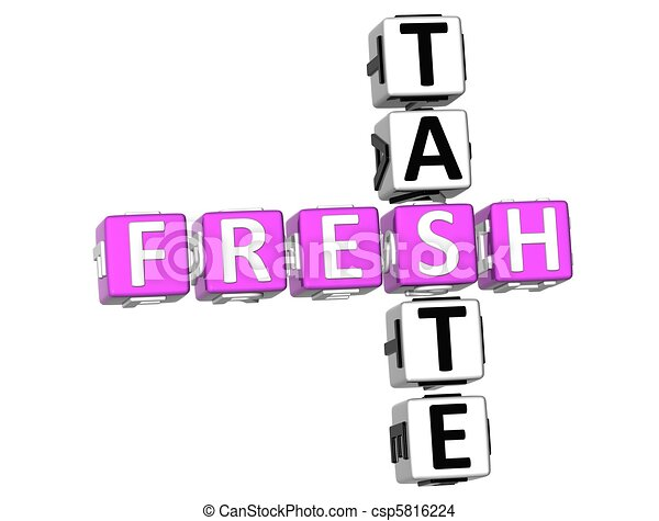 Fresh Taste Crossword  - csp5816224
