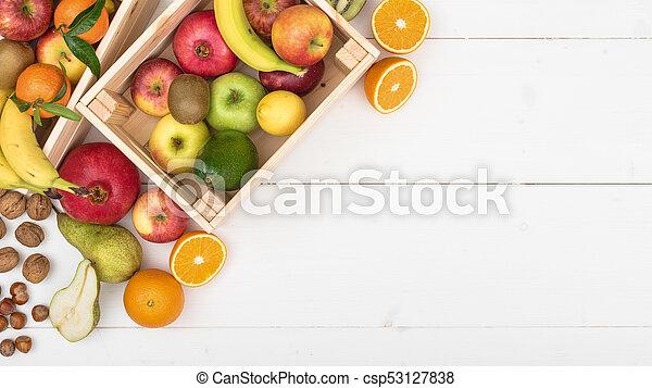 Fresh tasty fruit - csp53127838