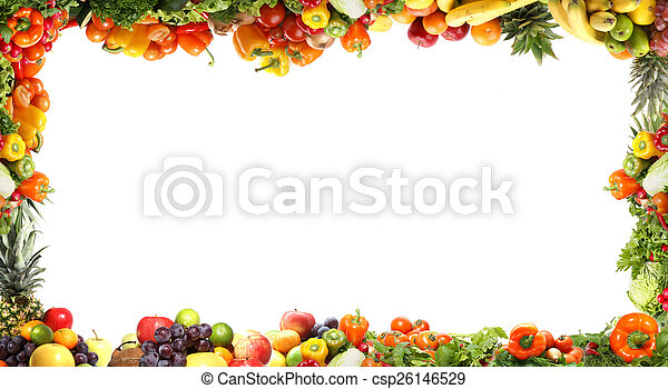 Fresh tasty vegetables fractal - csp26146529