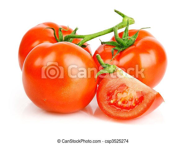 fresh tomato fruits with cut - csp3525274