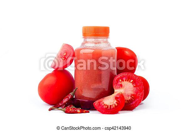 Fresh tomato juice - csp42143940