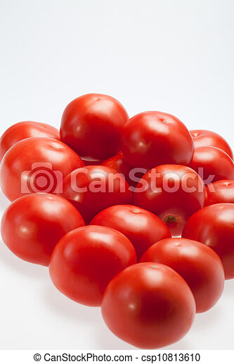 Fresh Tomatoes isolated on white - csp10813610