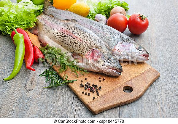 fresh trout - csp18445770
