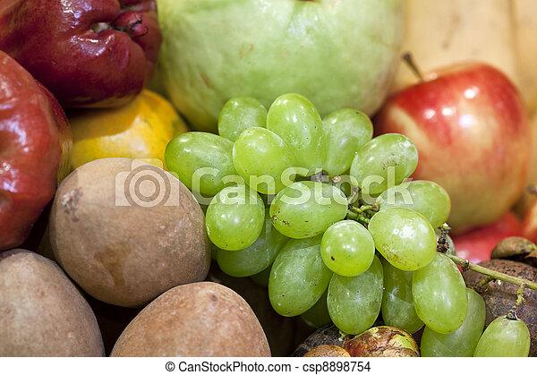 fresh various fruits - csp8898754