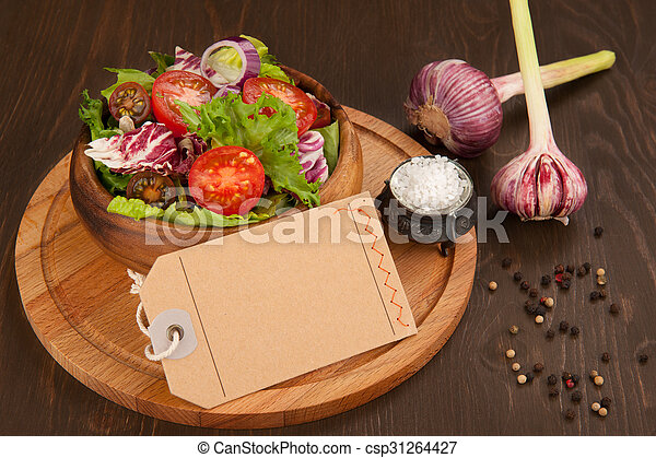 Fresh vegetable salad in a bowl - csp31264427