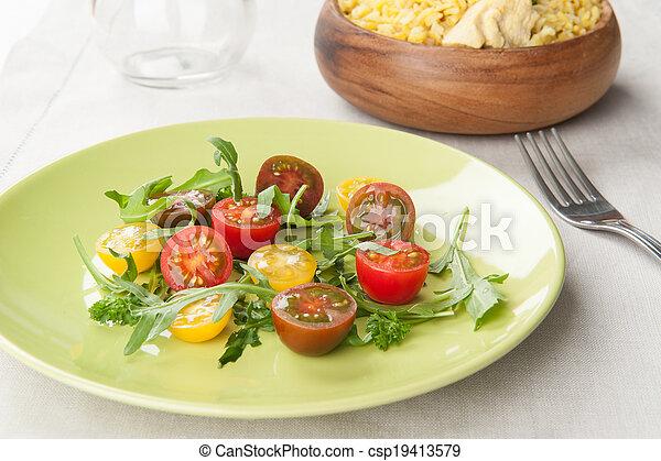 fresh vegetable salad - csp19413579
