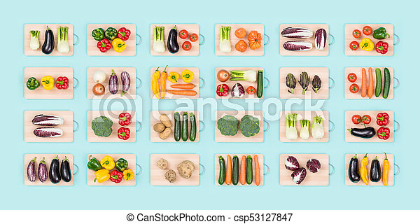 Fresh vegetables and healthy eating - csp53127847