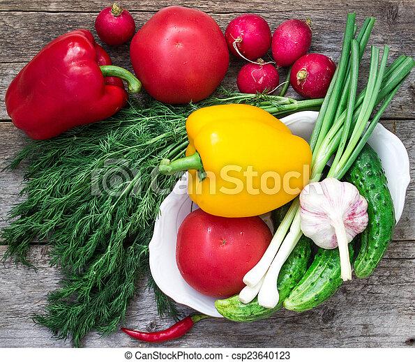 fresh vegetables - csp23640123