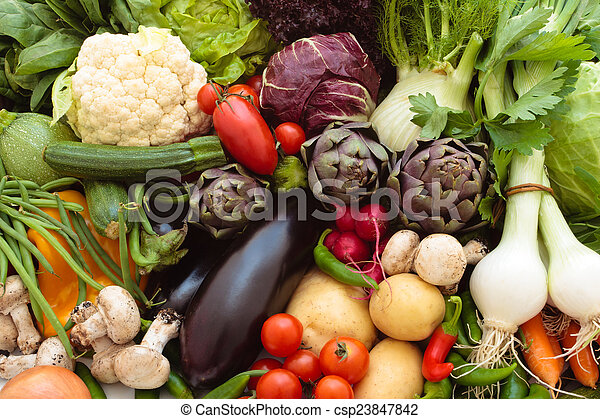 Fresh vegetables. - csp23847842