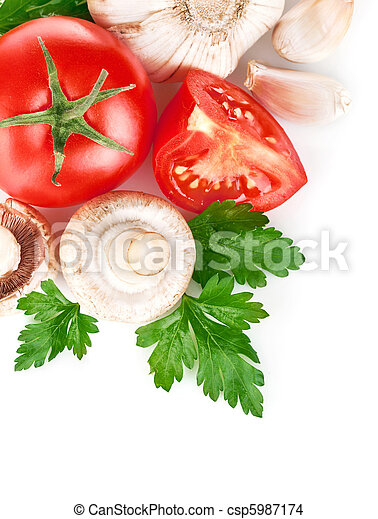 fresh vegetables with green leaf - csp5987174