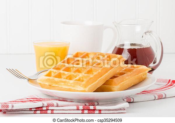 Fresh Waffles - csp35294509