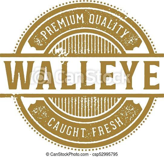 Fresh Walleye Restaurant Sign - csp52995795